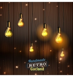 Handmade lighting garland vector