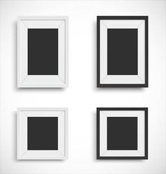 Blank picture frame set vector