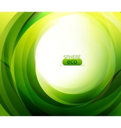 eco-friendly abstract swirl vector image