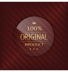 Original product glass label vector