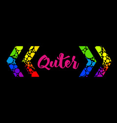 Abstract rainbow text box design with colorful vector