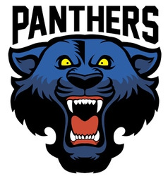 angry panther head vector image