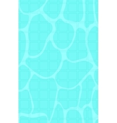 Background of blue pool water with sun reflections vector image