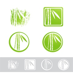 Bamboo logo design collection vector