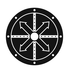 Black shield icon vector