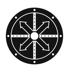 Black shield icon vector image