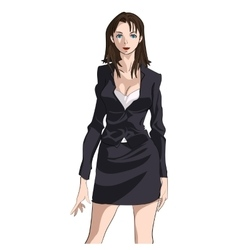 Business Woman Standing vector image vector image