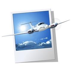 Civil utility airplane vector