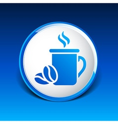 Coffee cup logo design template Cafe shop emblem vector image