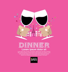Dating Dinner Concept EPS10 vector image vector image
