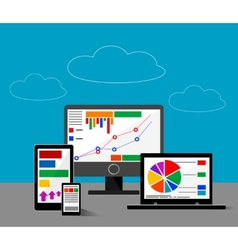 Design concept of website or finace analytics vector image vector image