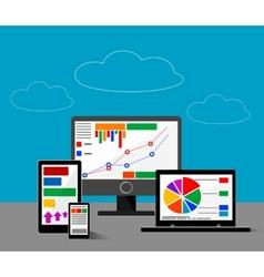 Design concept of website or finace analytics vector image