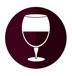 drinking glass wine icon shadow vector image
