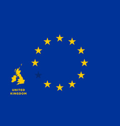 Eu flag with united kingdom country european vector