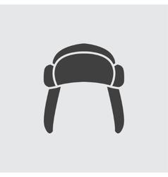 Fur hat icon vector image