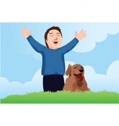 happy dog vector image vector image