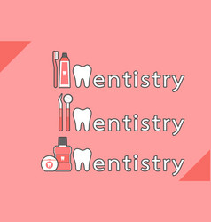 healthy teeth and friend combined as dentistry vector image vector image