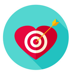 Heart target circle icon vector