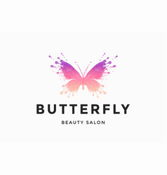 Label of beauty salon butterfly vector