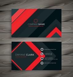 Minimal dark business card design vector