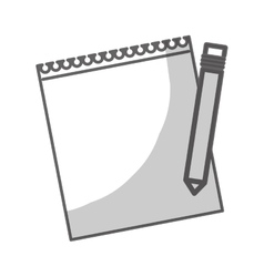 Notepad with pencil vector