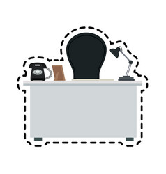 Office desk icon image vector