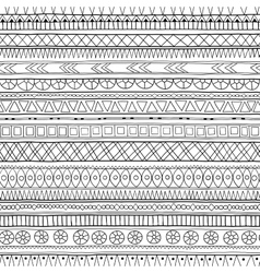 Original tribal doddle ethnic pattern vector image vector image