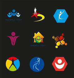 People icons vector image vector image