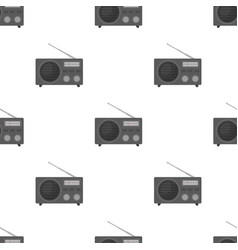 Radio advertising icon in cartoon style isolated vector