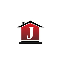 real estate initial j vector image vector image