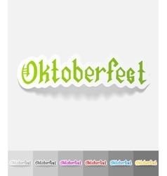 realistic design element Oktoberfest vector image vector image
