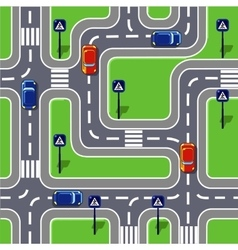 Road seamless pattern vector
