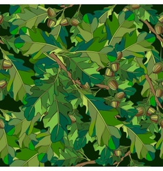 Seamless The leaves and branches vector image