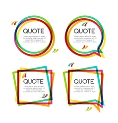 Set quote frame colorful quote frames for vector
