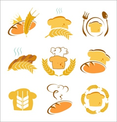 Symbols of bread vector
