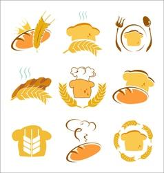 symbols of bread vector image vector image