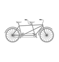 tandem bikepleasure bicycle for two double vector image vector image