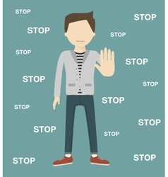 The Man Gestures a Stop vector image vector image