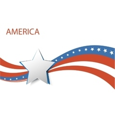USA star flag design elements vector image vector image