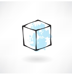 white box grunge icon vector image