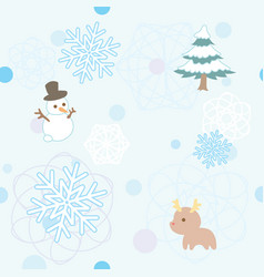 winter pattern 1 vector image