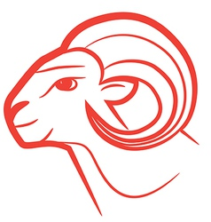 Zodiac sign aries logo vector