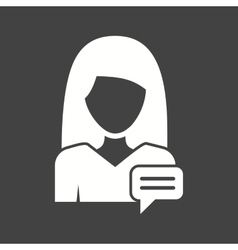 Woman message vector