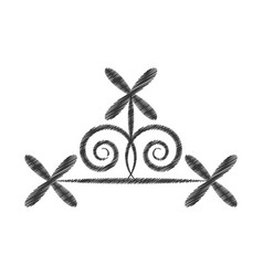 Drawing scroll decorate ornate style vector