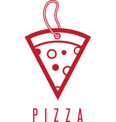 Pizza slice with rope design template vector