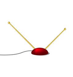 indoor tv antenna in retro design vector image