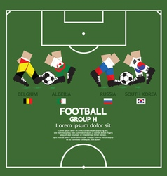 Group h 2014 football tournament vector