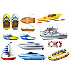 Boats and varying sizes vector