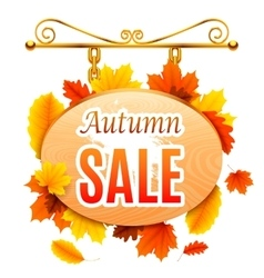 Autumn sale signboard vector