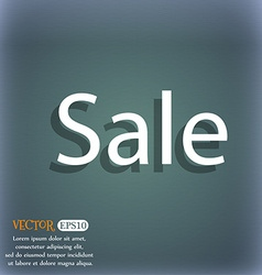 Sale tag icon for special offer on the blue-green vector